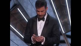Jimmy Kimmel Tweets to President Trump | Oscars 2017