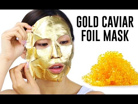 Gold Caviar Foil Mask- Does it work?  TINA TRIES IT