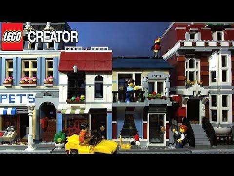 Vidéo LEGO Creator 31026 : Le magasin de vélos et le Café