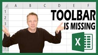 Toolbar is missing in Excel