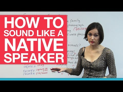How to sound like a native speaker - Word Stress