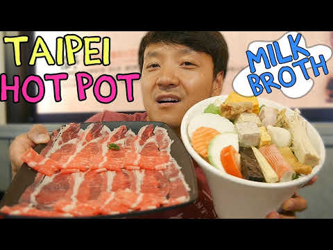 MILKY SOUP & BEST All You Can Eat HOTPOT in Taipei