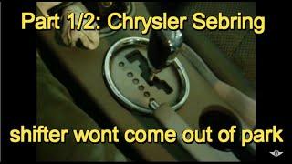 Chrysler sebring no crank no start most popular videos part 12 2008 chrysler sebring shifter will not come out of park fandeluxe Images