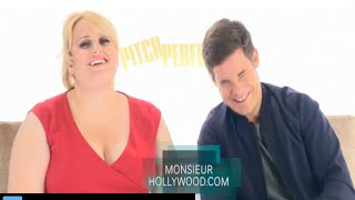 Rebel Wilson, Adam Devine, Fat Amy, interview exclusive Monsieur Hollywood, pitch perfect 2, P2