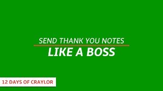 Send Thank You Notes Like A Boss | Day 12
