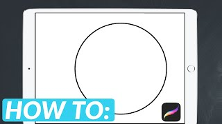 How To Draw a Perfect Circle in Procreate | 😍iPad Pro + Apple Pencil