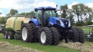 New Holland T8.360 w/ Krone Bigpack 1290 XC Hay Day East Berlin Pa. 6-19-2013