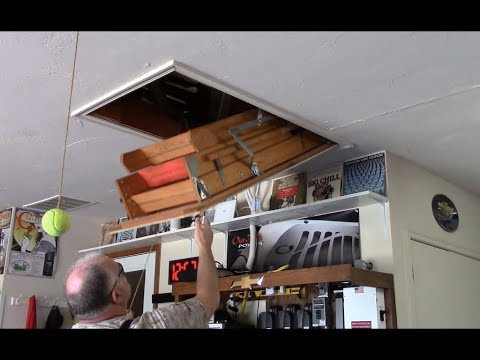 Pull down attic ladder repairs - 15 mins job turned into TWO HOURS