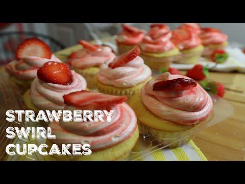 How To Make Strawberry Swirl Cupcakes