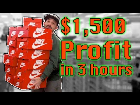 $1500 Profit Buying Nike Shoes to Sell on Amazon FBA | RIDE ALONG