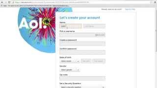 How To Sign Up Or Register At Aol com