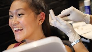 Getting My Triple Forward Helix Piercing!