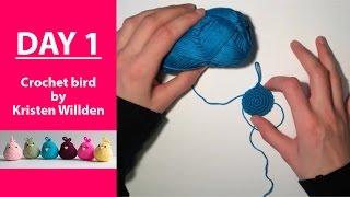 Start 100 days challenge with Crochet Bird || 100DaysOf10MinuteCrochet || Day 1