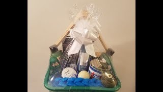 Male Gift Basket Tutorial 🎱 | 🎄Gifting Ideas 2018