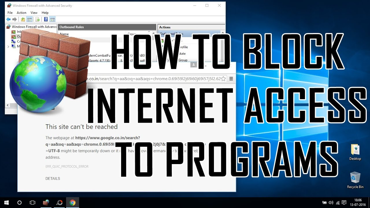 Learn to block an application in Windows 10