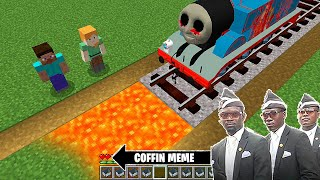 Traps for THOMAS THE TANK ENGINE.EXE in Minecraft - Coffin Meme