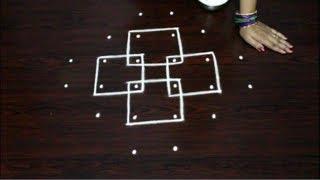 simple melika muggulu designs for beginners || easy rangoli designs || skolam designs with dots