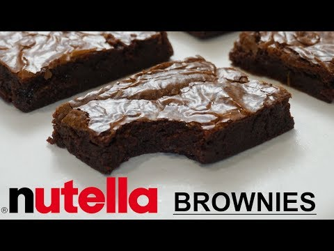 5 Ingredient Nutella Fudge Brownies Recipe! Nutella Brownies