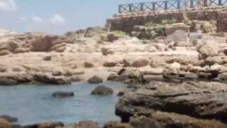 preview picture of video 'Caesarea.The underwater part...'
