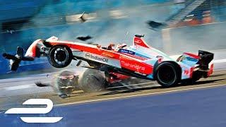 Crash Compilation: All Major Formula E Season 3 Crashes