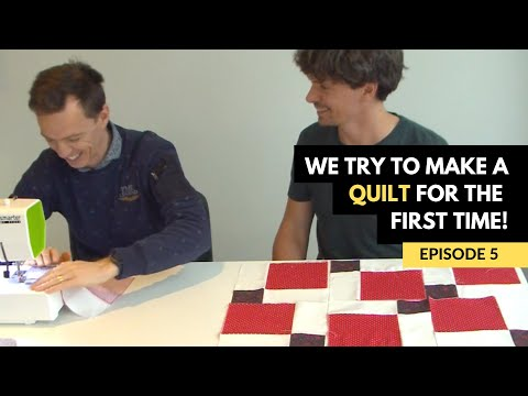 Mark And Richard s First Quilt For Mom - Episode 5