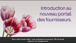 Introduction au nouveau portail des fournisseurs.