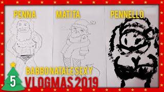 Penna, matita, pennello CHALLENGE | VLOGMAS 2019 #5