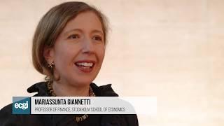 Mariassunta Giannetti: Winner of the 2017 ECGI Working Paper Finance Series