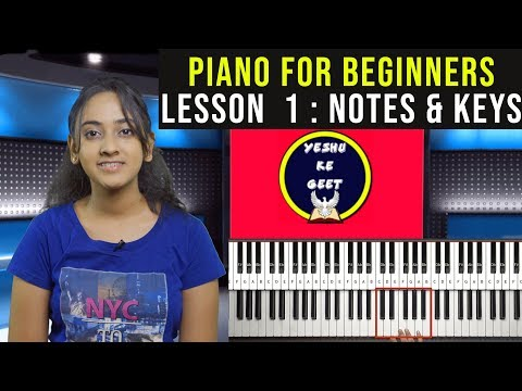 Piano Lessons for Beginners : Part 1 (NOTES & KEYS) | EASY TUTORIAL