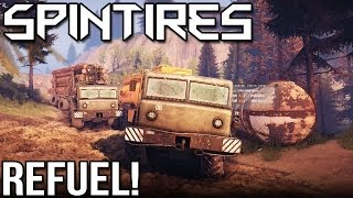 SPINTIRES - REFUEL! (Volcano Map In Spin Tires)
