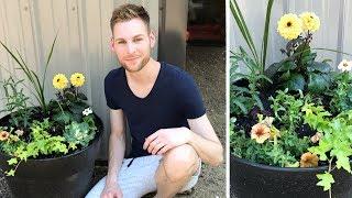 Summer Flower Planter  - Flower Pot Idea - Outdoor Decorating - Gardening