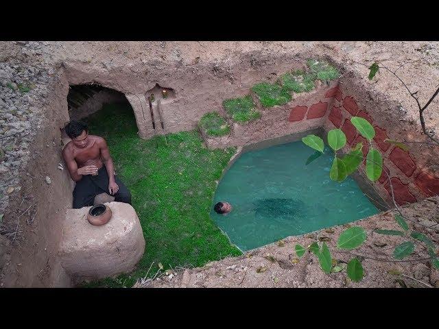 Build The Amazing Secret Ancient Underground With Underground Deep Pool