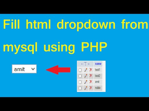 dynamic dropdown in HTML and fetching data from mysql using php