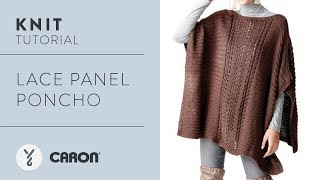 Knit: Lace Panel Poncho