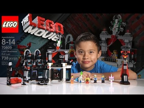 LORD BUSINESS' EVIL LAIR – LEGO MOVIE Set 70809 & BLIND BAG – Time-lapse Build, Unboxing & Review!