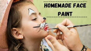 How To Make Face Paint At Home / Homemade Face Paint Recipe / Diy Face Paint