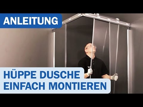 Montagevideo für Hüppe-Duschkabinen Design Elegance Gleittüren
