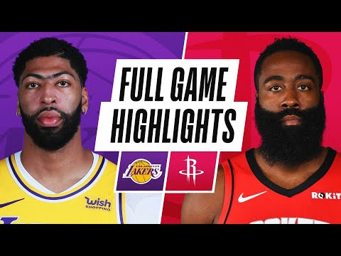 LAKERS at ROCKETS | FULL GAME HIGHLIGHTS | January 10, 2021
