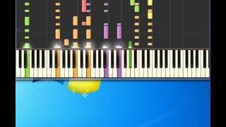Blonde hair blue jeans Chris DeBurgh [Piano tutorial by Synthesia]