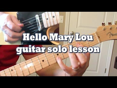 Hello Mary Lou guitar solo lesson by Tom Conlon