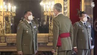 Audiencia militar de S.M. el Rey a un Grupo de Coroneles