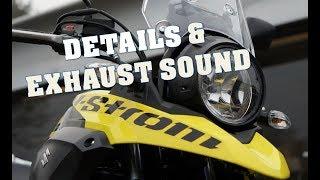 Suzuki V-Strom 250 -  Details And Exhaust Sound