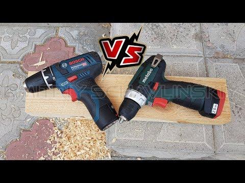 Bosch and Metabo Какой шуруповерт выбрать? GSR 12V-15 против PowerMaxx BS (видео)