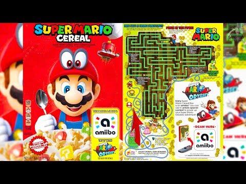Super Mario Kellogg's Cereal with Amiibo in Box CONFIRMED!