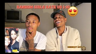 ASKING RANDOM GIRLS TO RATE US 😍(WHO LOOK BETTER?) MONKEY APP 🐵
