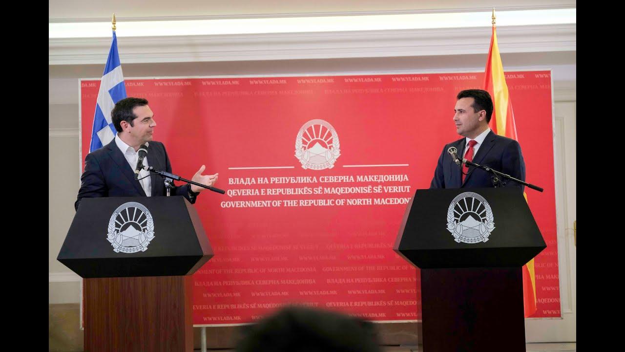 Κοινές δηλώσεις με τον Πρωθυπουργό της Δημοκρατίας της Βόρειας Μακεδονίας