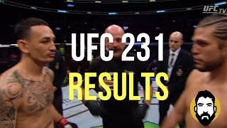 UFC 231 Results: Max Holloway vs. Brian Ortega | Post-Fight Special | Luke Thomas
