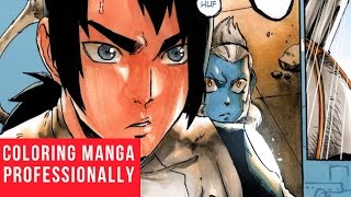 Coloring A Manga Page Professionally