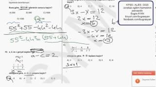 ALES 2013 Çözümleri Sayısal 1 ( 1- 20 )