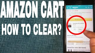 ✅  How To Delete And Clear Amazon Shopping Cart 🔴